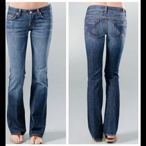 7 For All Mankind Crop Flynt Flare Jeans